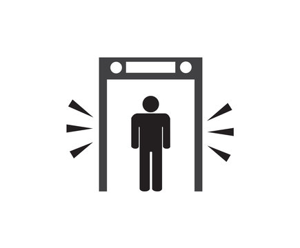 security check point sign, vector illustration.