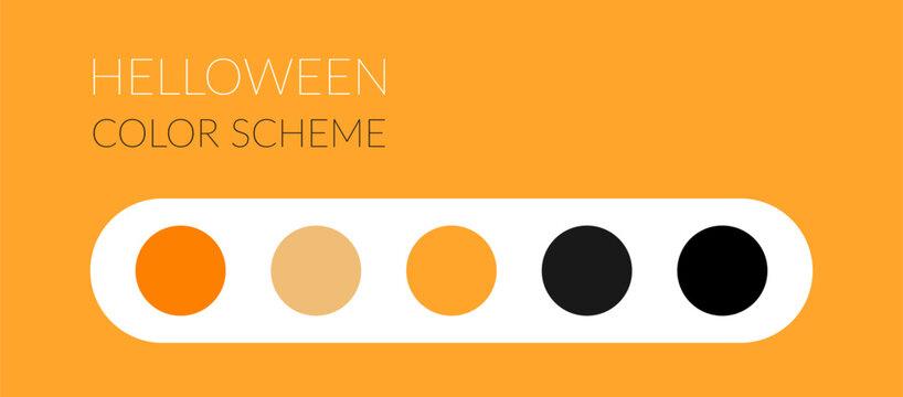 halloween color scheme, vector trick or treat theme color palette