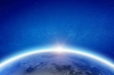 Wall Mural - Earth glow horizon