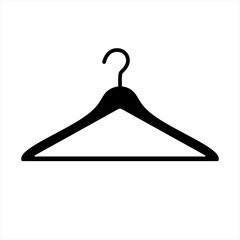 Vector illustration of an isolated coat hanger.