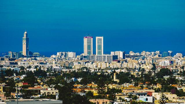 aerial view of Casablanca city