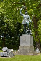 The statue Landsoldaten The Foot Soldier in Fredericia Denmark