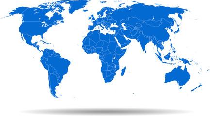 Fototapeta map of world obraz
