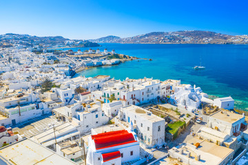 Panoramic view of Mykonos town, Cyclades islands, Greece Fototapete