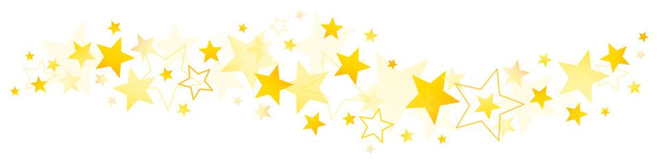 Bordüre Grafische Goldene Sterne