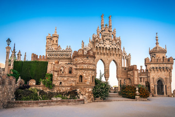 Foto op Plexiglas Donkergrijs ancient, arabesque, architecture, art, beautiful, benalmadena, building, castle, cathedral, city, cityscape, costa del sol, culture, europe, european, exterior, famous, gothic, heritage, historic, his