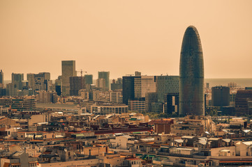 Foto op Canvas Barcelona Barcelona daytime Torre Glories Catalunya Spain touristic amazing view