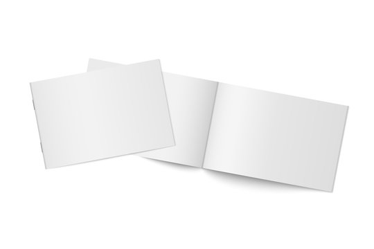 Vector mockup of two thin books isolated