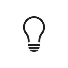 Bulb Lamp Icon Vector Electricity Symbol