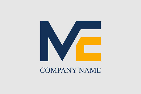Letter M and E Logo Design Vector Illustration