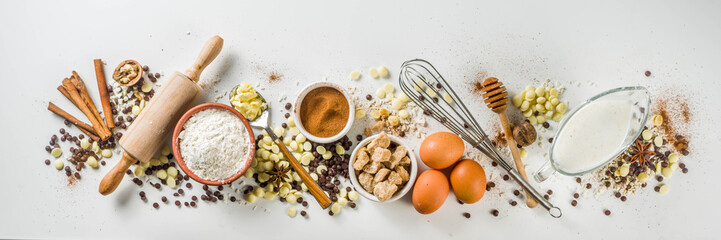 In de dag Bakkerij Ingredients for autumn winter festive baking