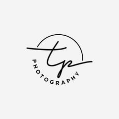 TP initials logo for photography and other business.