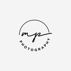 MP initials logo for photography and other business.