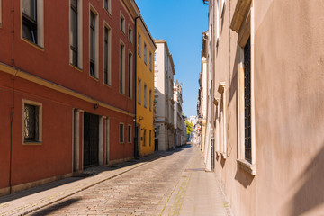Poznan. Medieval streets of the old town