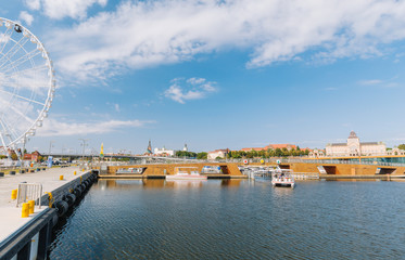 Szczecin. View of the river and the historic center