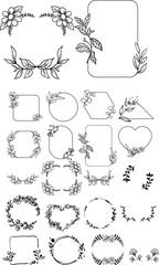 floral frames sketch  decoration frames  invitation frames