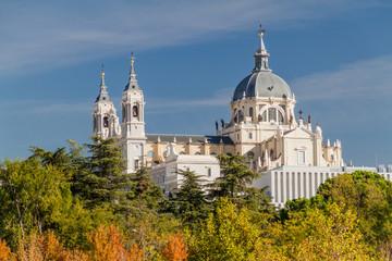 Catedral de la Almudena cathedral in Madrid, Spain Fotomurales