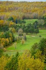 Autumn day on a golf course