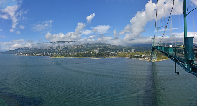 West Vancouver to Lion's Gate Bridge Panorama