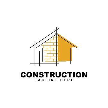 Home build illustration symbol logo design template