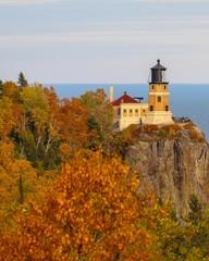 Split Rock Lighthouse on Lake Superior in Autumn