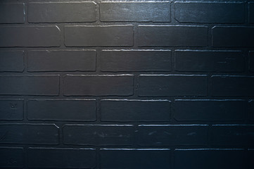 Texture of black brick wall, spectacular natural background
