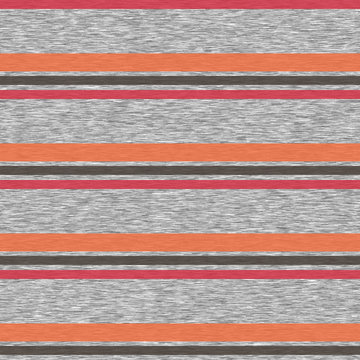 Striped Marl Heather Seamless Repeat Vector Pattern Swatch for athleisure or casual sports wear. Gray and bright colors.  Knit t-shirt fabric texture.  Sportif design.
