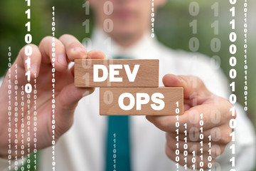 Dev Ops Development Operations Software Deploy Communication Development Digital Concept.