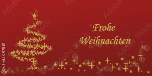 Weihnachtsrote Karte Mit Text Frohe Weihnachten Auf Deutsch