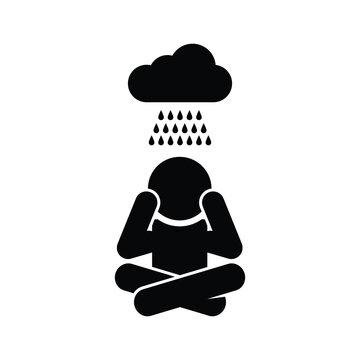 Depression, Sadness, Depressed Person Icon