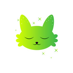 Kawaii avatar sweet fox icon. Element of kawaii style illustration icon