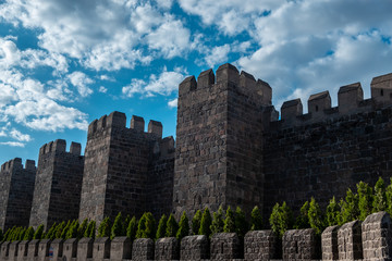 Great castle walls, Kayseri fortress castle, Kayseri is a small city of Turkey Wall mural