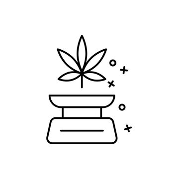 Scale marijuana icon. Element of narcotic icon