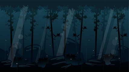 Night Forest Game Background