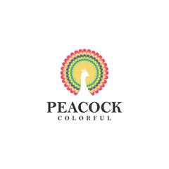Creative Peacock Concept Logo Design Template. idea