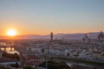 Wall Murals Kiev Panoramic view of Florence city from Piazzale Michelangelo