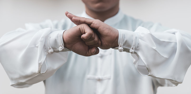 Tai Chi Chuan Master hands, Chinese Martial Arts workout.