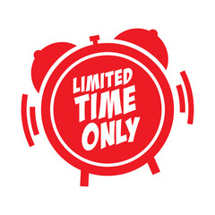 Vector Limited Time Only Label