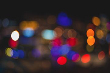 Fotomurales - defocused city lights
