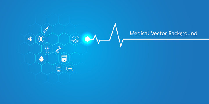 Abstract molecules medical background concept template design Vector Illustration.