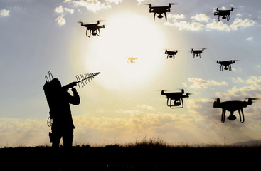 blocking unauthorized drone devices and sabotages