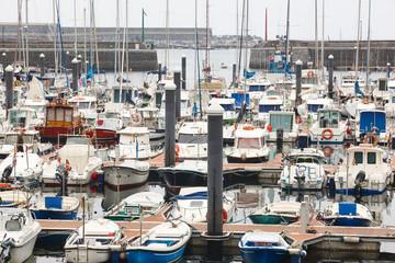 Spanish traditional fishing harbor village in Mutriku. Euskadi