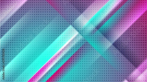 Cyan And Pink Smooth Stripes And Dots Abstract Motion Design