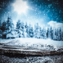 Winter background of free space for your decoration and christmas time