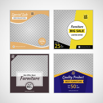 social media templates for furniture sale, template for ad