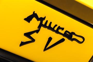 Emblem of Lamborghini Miura sports car