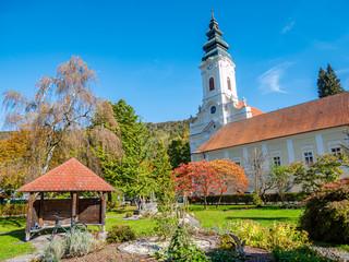 Stift Engelszell in Oberösterreich im Herbst