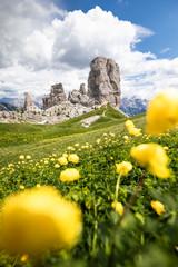 Fototapete - Cinque Torri Natural Park, Cortina d'Ampezzo, Dolomites, Veneto, Italy