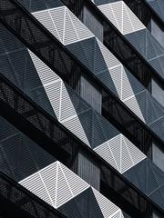 Steel Facade Modern building Metal sheet grill pattern Architecture details