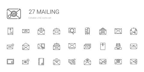 mailing icons set